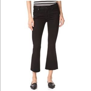 Hudson Mia Cropped Midrise Flare Black Jean